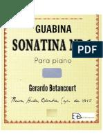 GUABINA SONATINA No. 1. Gerardo Betancourt.