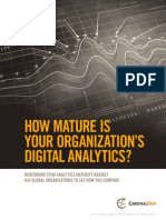 Benchmarking Analytics Maturity