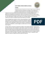 DECLARACION DEL ALCALDE DANIEL RIVERA SOBRE EL RECALL