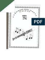 Partituras de Flauta 3º, 4º, 5º y 6º. Feria y La Parra