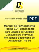 Manual de Fornecimento-EDP Bandeirante-Ligação de Unidade-PB01