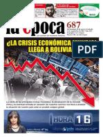 Nº 687 - Especial Crisis Económica Mundial y Bolivia - Agosto 2015