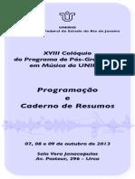 XVIII Colóquio - CadernoDeResumos