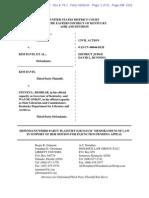 Davis Injunction Request