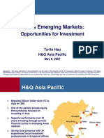 Asia's Emerging Markets