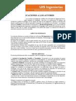 Indicaciones Para Autores (Revista de Ingenierias UIS)