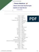 Diccionario Náutico Abreviado Español-Inglés