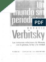 Horacio Verbitsky - Prologo de Un Mundo Sin Periodistas