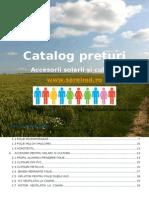 Catalog Accesorii Solarii