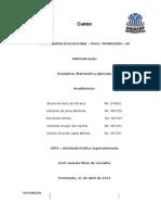 Matemática Aplicada - ATPS 2013