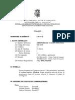 Seminario de Tesis en Zoologia Plan 2003, Prof. Irma Franke Sem. 2014-2