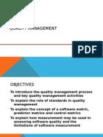 Quality Management - Introduction