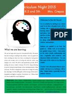 curriculum night flyer 2014-15