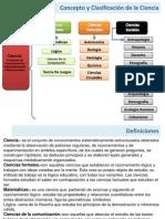 concepto y clasificación de las ciencias