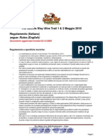 Regolamento Rules AW10