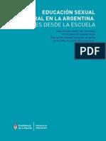 Educación SExual IntEgral en La ArgEntina Voces Desde La Escuela