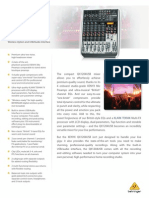 BEHRINGER QX1204USB P0AKW Product Information Document