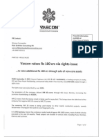 Vascon raises Rs. 100 crs via rights Issue [Company Update]