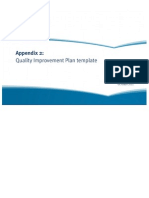 four - appendix 2 quality improvement plan template of guide to developing a quality improvement plan