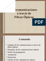 telecomunicaciones a traves de fibras opticas