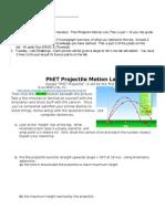 ap physics phet projectile lab