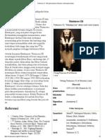 Thutmosis III - Wikipedia Bahasa Indonesia, Ensiklopedia Bebas
