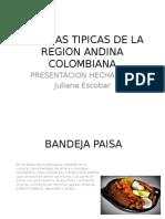 Comidas Típicas de La Región Andina