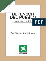 Ley 19-01 Que Instituye El Defensor Del Pueblo