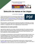 Poker Español Estrategia Seleccion Manos Desde Las Ciegas en Poquer-red