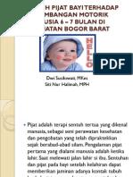 Pengaruh Pijat Bayi terhadap Perkembangan Motorik Bayi Usia 6-7 Bulan