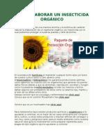 Como Elaborar Un Insecticida Orgánico