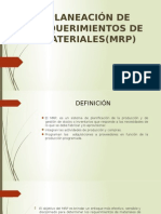 Planeación de Requerimiento de Materiales(Mrp)