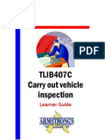 TLIB407C - Carry Out Vehicle Inspection - Learner Guide