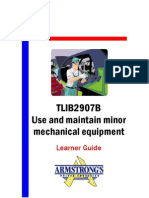 TLIB2907B - Use and Maintain Minor Mechanical Equipment - Learner Guide