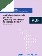Capitulo 2 Análisis de la demanda por TICs ¿Qué es y cómo medir la pobreza digital