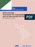 Capitulo 6 Seleccionando Soluciones TIC Sustentables para la Intervención Pro-Pobre