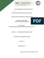 11Practica Nº4 Creación de Entidades y Atributos en Oracle 11g XE