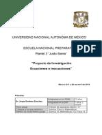 Proyecto de Investigación Ecuaciones E Inecuaciones