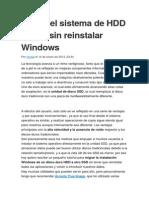 Migrar El Sistema de HDD a SDD Sin Reinstalar Windows