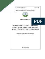 Nghiên Cứu Nâng Cao Khả Năng Sinh Tổng Hợp Kháng Sinh Từ Streptomyces 173.113