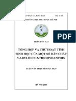 Tổng Hợp Và Thử Hoạt Tính Sinh Học Của Một Số Dẫn Chất 5-Aryliden-2-Thiohydantoin