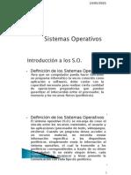Sistemas Operativos - Introducción y Conceptos