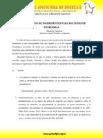 Marcelo Caceres - Actualización de Ingredientes Para Raciones de Ponedoras
