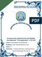 PROYECTO DE EXPORTACION DE BEBIDA ENERGIZANTE