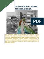 Historic Preservation- Urban Landscape Design