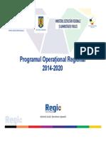 PROGRAMUL OPERATIONAL REGIONAL.2014 2020