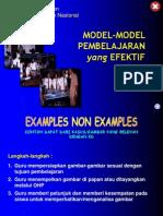 Model Model Pembelajaran Yang Efektif