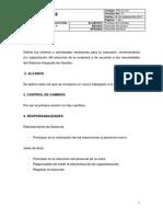 Procedimiento de Induccion, Entrenamiento y Capacitacion