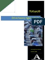 TLIC407D - Drive Heavy Rigid Vehicle - Learner Guide
