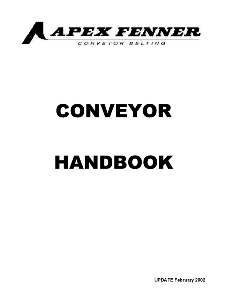 apex fenner conveyor handbook pdf